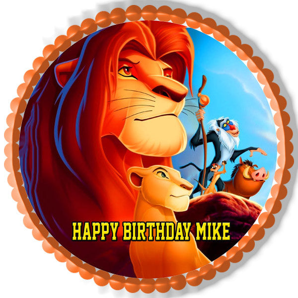Edible Cake Images Lion King : Lion King 2 Edible Birthday Cake OR Cupcake Topper ...