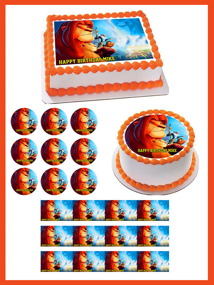 Enjoyable Lion King 2 Edible Birthday Cake Or Cupcake Topper Edible Prints Funny Birthday Cards Online Barepcheapnameinfo