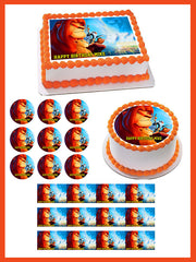 Lion King 2 Edible Birthday Cake Topper OR Cupcake Topper, Decor - Edible Prints On Cake (Edible Cake &Cupcake Topper)