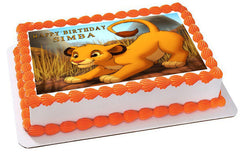 Lion King Simba Edible Birthday Cake Topper OR Cupcake Topper, Decor