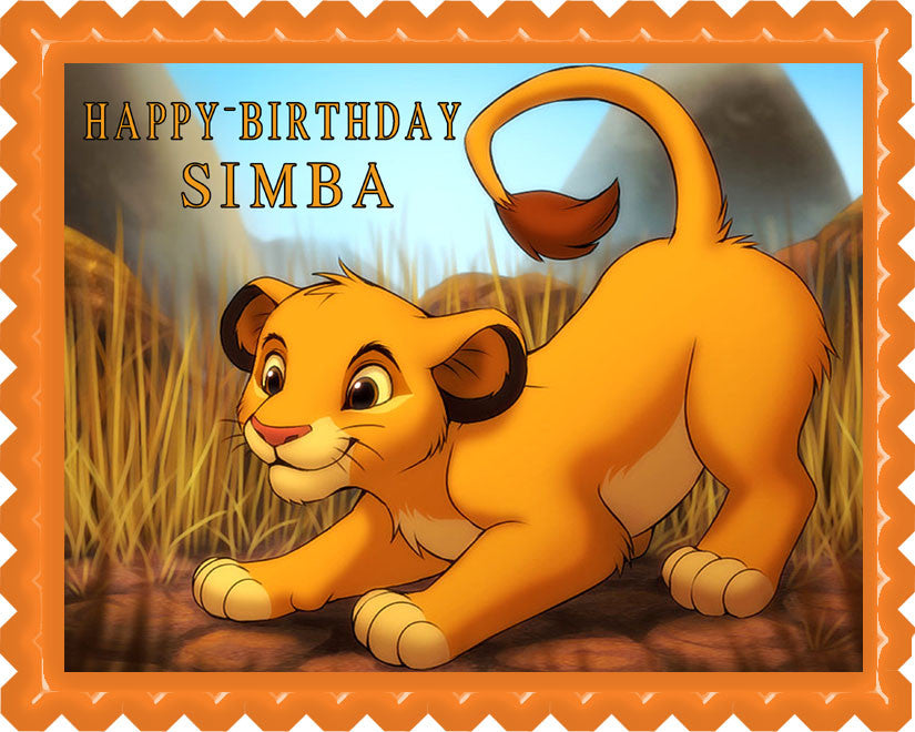Surprising Lion King Simba Edible Cake Topper Or Cupcake Toppers Edible Funny Birthday Cards Online Barepcheapnameinfo