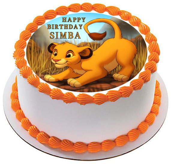 Edible Cake Images Lion King : Lion King Simba Edible Cake Topper & Cupcake Toppers ...