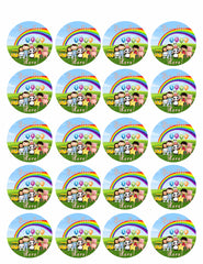 Little Baby Bum - Edible Cake Topper, Cupcake Toppers, Strips