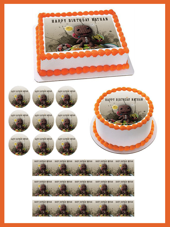 Astonishing Little Big Planet Edible Cake Topper Cupcake Toppers Edible Birthday Cards Printable Riciscafe Filternl