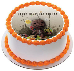 Little Big Planet Edible Birthday Cake Topper OR Cupcake Topper, Decor - Edible Prints On Cake (Edible Cake &Cupcake Topper)