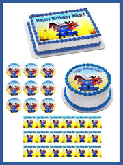 Little Blue Truck - Edible Cake Topper, Cupcake Toppers, Strips