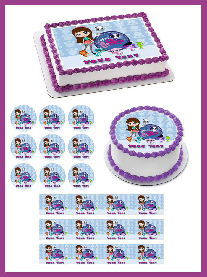 Excellent Littlest Pet Shop Edible Cake Topper Cupcake Toppers Edible Funny Birthday Cards Online Alyptdamsfinfo