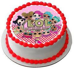 Lol Suprise Dolls (Nr3) - Edible Cake Topper, Cupcake Toppers, Strips