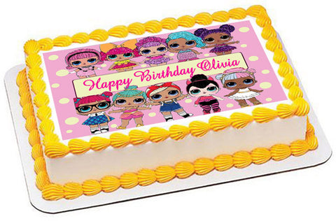 Lol Suprise Dolls (Nr2) - Edible Cake Topper, Cupcake Toppers, Strips