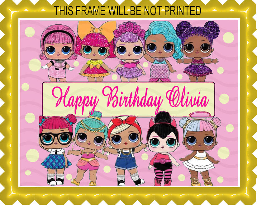 Lol Suprise Dolls Nr2 Edible Cake Topper Or Cupcake Toppers Edible Prints On Cake Epoc