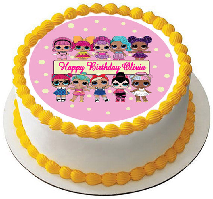 Lol Suprise Dolls (Nr2) - Edible Cake Topper or Cupcake ...