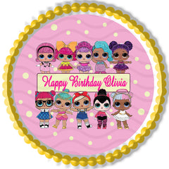 Lol Suprise Dolls (2) - Edible Cake Topper, Cupcake Toppers, Strips