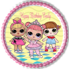 Lol Suprise Dolls (1) - Edible Cake Topper, Cupcake Toppers, Strips