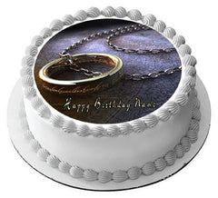 Lord of the Ring Edible Birthday Cake Topper OR Cupcake Topper, Decor