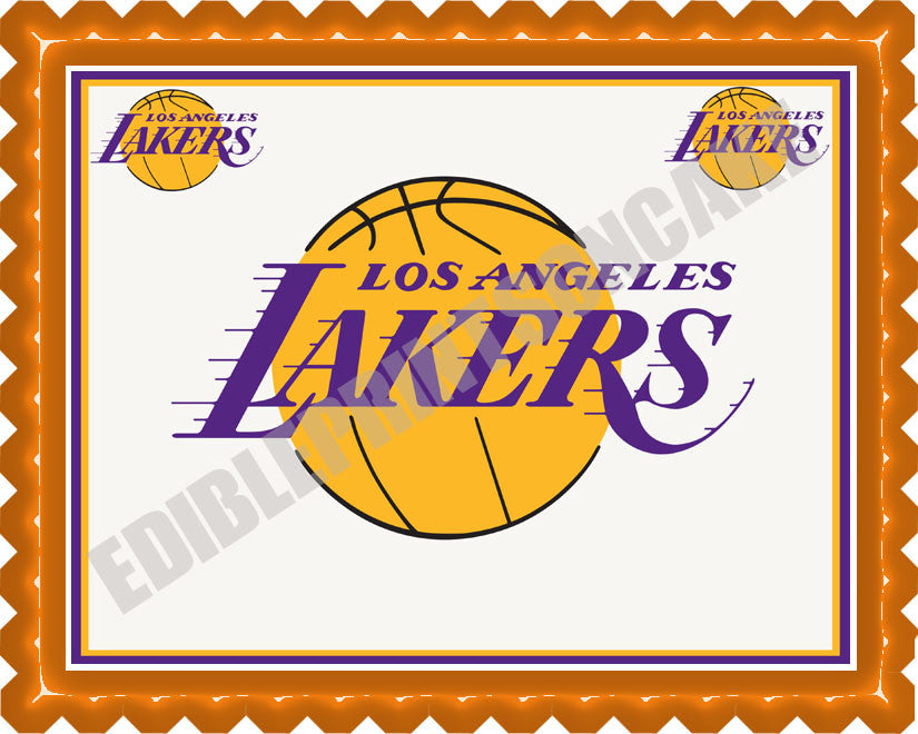 Los Angeles La Lakers Edible Cake Or Cupcake Topper Edible Prints
