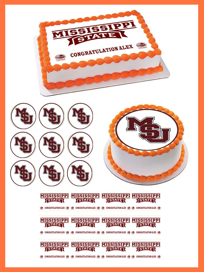 Edible Image Toppers Reviews : Mississippi State University Edible Cake Topper & Cupcake ...