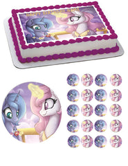 MY LITTLE PONI 2 Edible Birthday Cake Topper OR Cupcake Topper, Decor - Edible Prints On Cake (Edible Cake &Cupcake Topper)