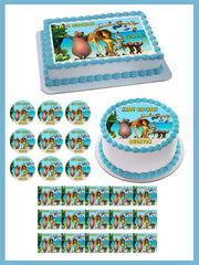 MADAGASCAR Edible Birthday Cake Topper OR Cupcake Topper, Decor