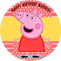 Peppa Pig 1 Edible Birthday Cake OR Cupcake Topper ...