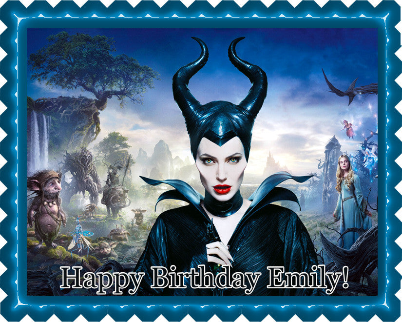 Maleficent 2 Edible Birthday Cake Topper OR Cupcake Topper, Decor - Edible Prints On Cake (Edible Cake &Cupcake Topper)