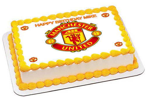 manchester united edible cake topper or cupcake topper decor edible prints on cake epoc edible prints on cake