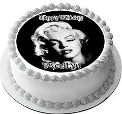 Marilyn Monroe - Edible Cake Topper OR Cupcake Topper, Decor