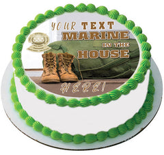 Marine in the House - Edible Cake Topper, Cupcake Toppers, Strips