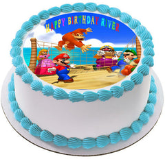 Mario Party - Edible Cake Topper OR Cupcake Topper, Decor