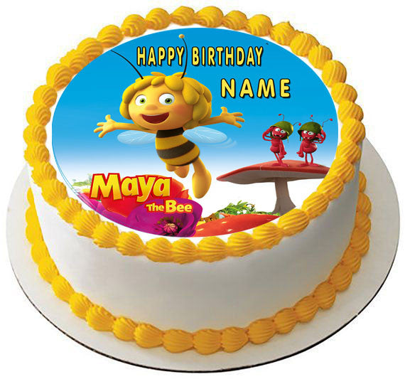 Maya The Bee Edible Cake Topper & Cupcake Toppers