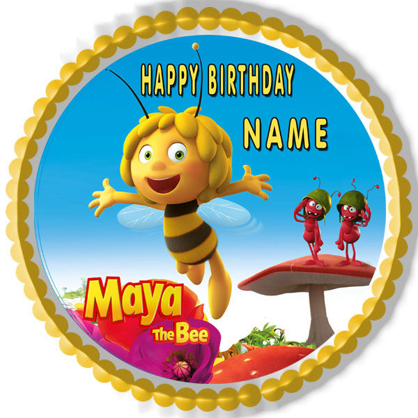 Maya The Bee Edible Cake Topper Amp Cupcake Toppers Edible