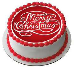 Christmas 4 Edible Birthday Cake Topper OR Cupcake Topper, Decor - Edible Prints On Cake (Edible Cake &Cupcake Topper)