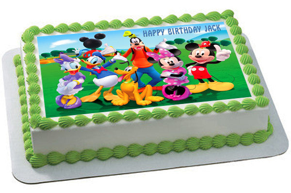 Mickey Mouse Clubhouse 3 Edible Cake Or Cupcake Topper