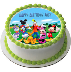 Mickey Mouse Clubhouse 3 Edible Birthday Cake Topper OR Cupcake Topper, Decor - Edible Prints On Cake (Edible Cake &Cupcake Topper)