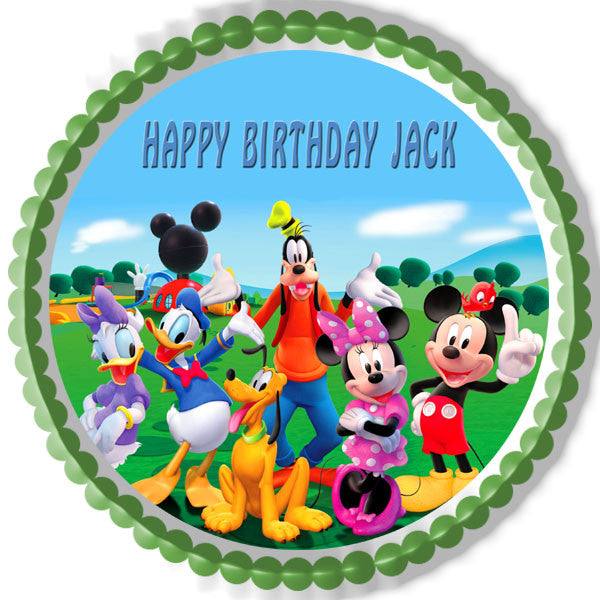 Mickey Mouse Clubhouse 3 Edible Cake OR Cupcake Topper ...