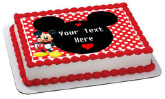 Mickey Mouse Inspired - Edible Cake Topper OR Cupcake Topper, Decor