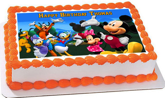 Mickey Mouse Clubhouse 4 Edible Birthday Cake Topper OR Cupcake Topper,  Decor