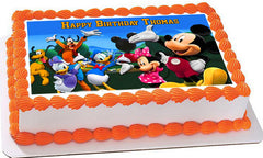 Mickey Mouse Clubhouse 4 Edible Birthday Cake Topper OR Cupcake Topper, Decor - Edible Prints On Cake (Edible Cake &Cupcake Topper)