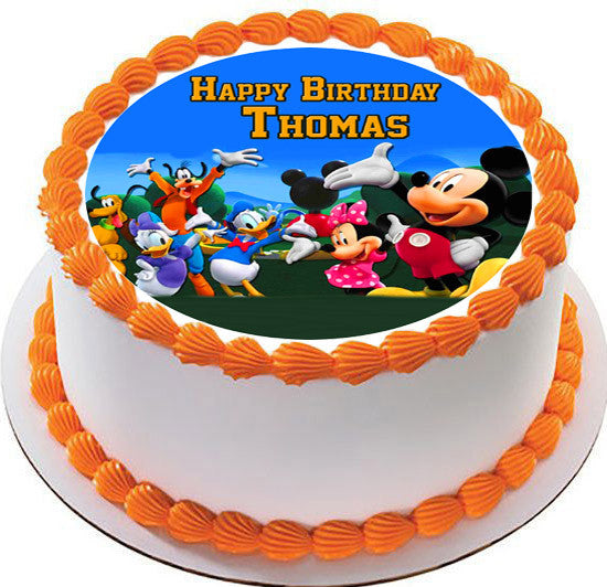 Mickey Mouse Clubhouse Edible Cake Images : Mickey Mouse Clubhouse 4 Edible Cake Topper & Cupcake ...