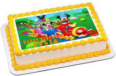 Mickey Mouse Clubhouse Train Edible Birthday Cake Topper OR Cupcake Topper, Decor - Edible Prints On Cake (Edible Cake &Cupcake Topper)