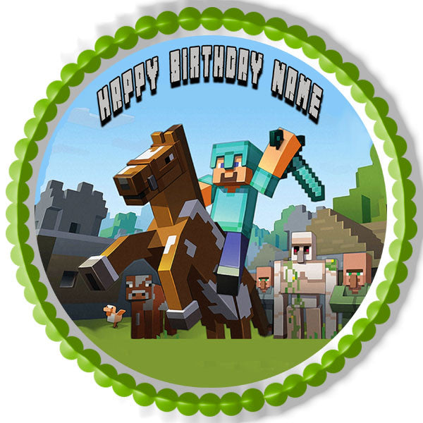 Minecraft Characters 6 Edible Cake Or Cupcake Topper