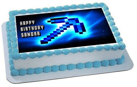 MINECRAFT Characters 10 Edible Birthday Cake Topper OR Cupcake Topper, Decor