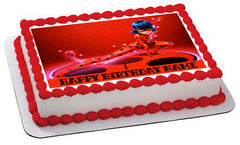 Miraculous Ladybug Wiki Edible Birthday Cake Topper OR Cupcake Topper, Decor