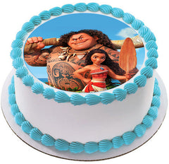 Moana 3 Edible Birthday Cake Topper OR Cupcake Topper, Decor