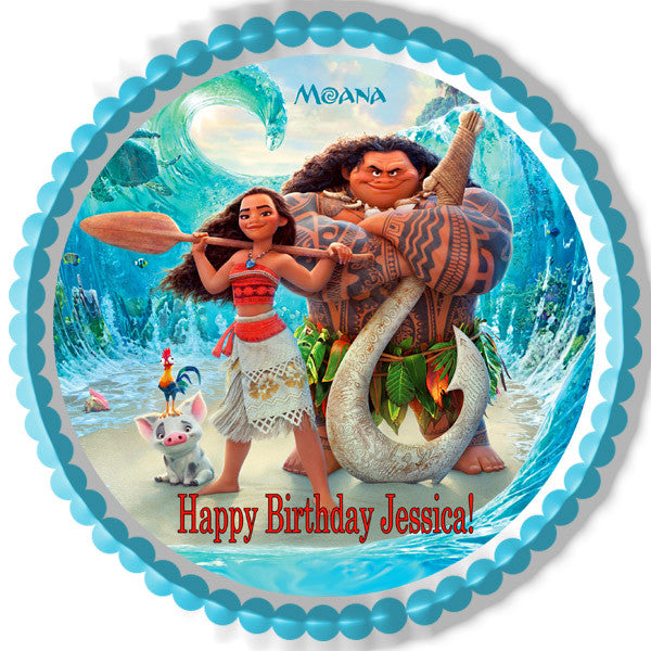 Moana 1 Edible Cake Topper Amp Cupcake Toppers Edible