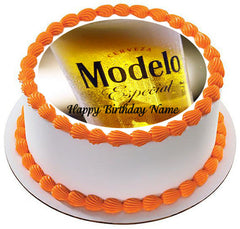 Modelo beer 2 Edible Birthday Cake Topper OR Cupcake Topper, Decor