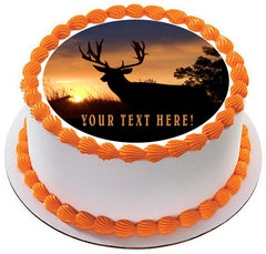 Moose (Nr2) - Edible Cake Topper OR Cupcake Topper, Decor
