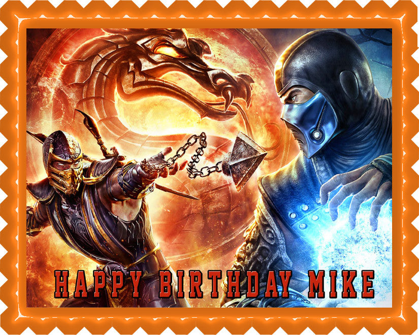 Mortal Kombat 2 Edible Birthday Cake Topper OR Cupcake Topper, Decor - Edible Prints On Cake (Edible Cake &Cupcake Topper)