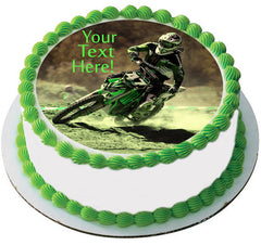 Motocross Racer - Edible Cake Topper, Cupcake Toppers, Strips