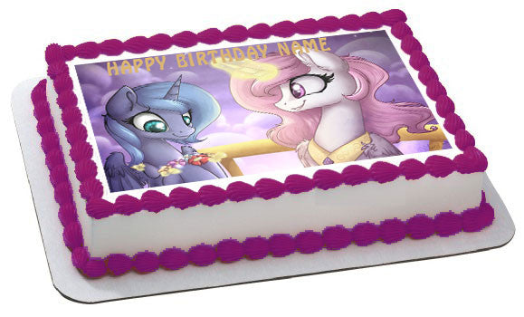 My Little Pony 2 Edible Birthday Cake Or Cupcake Topper