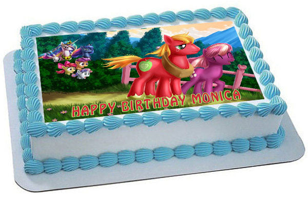 MY LITTLE PONY 4 Edible Birthday Cake Topper OR Cupcake Decor
